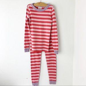Hanna Andersson Cotton Striped Long John Pajamas